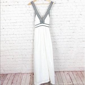 J CREW | WHITE COTTON MAXI DRESS